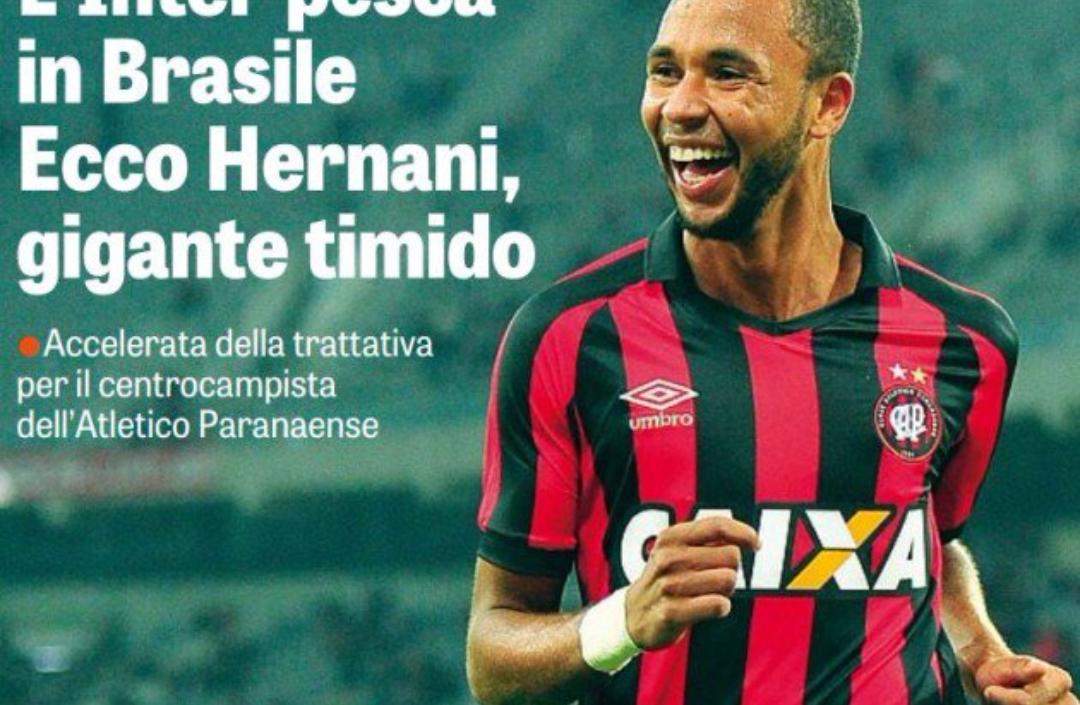 Pedullà smentisce la Gazzetta, Hernani verso la Fiorentina, le ultime