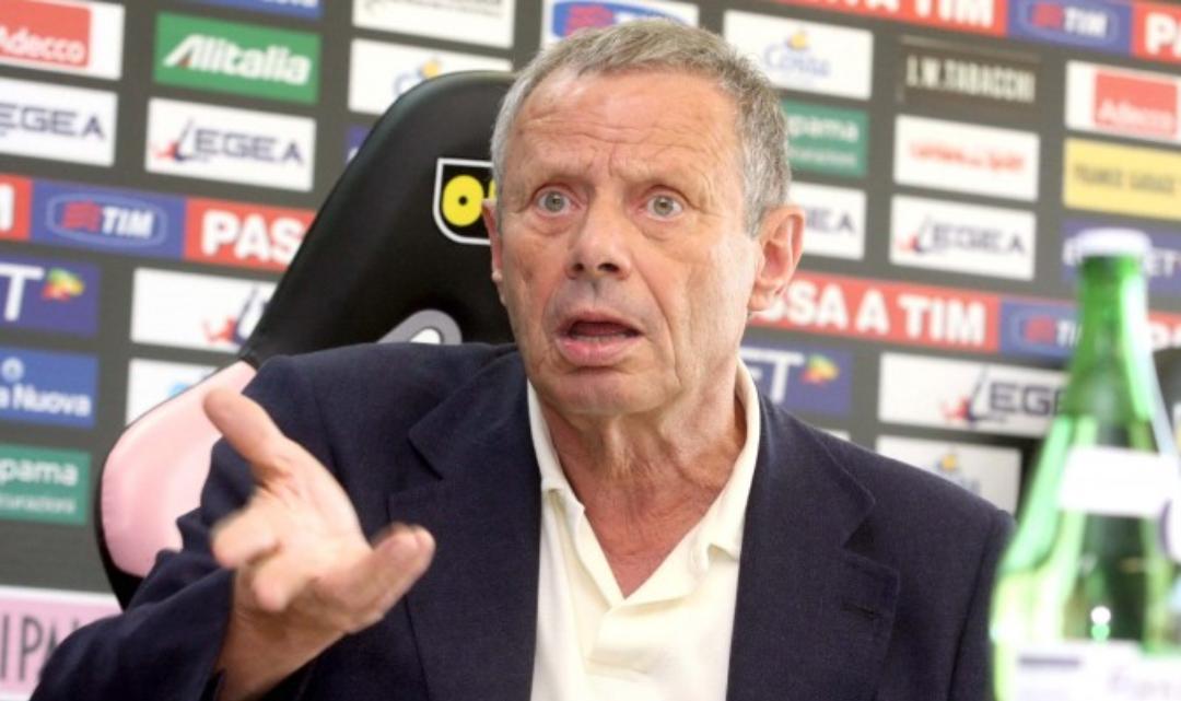 """Zamparini: """"Il calcio ha un'idea sbagliata di me, Ballardini prenderà soldi senza lavorare"""""""
