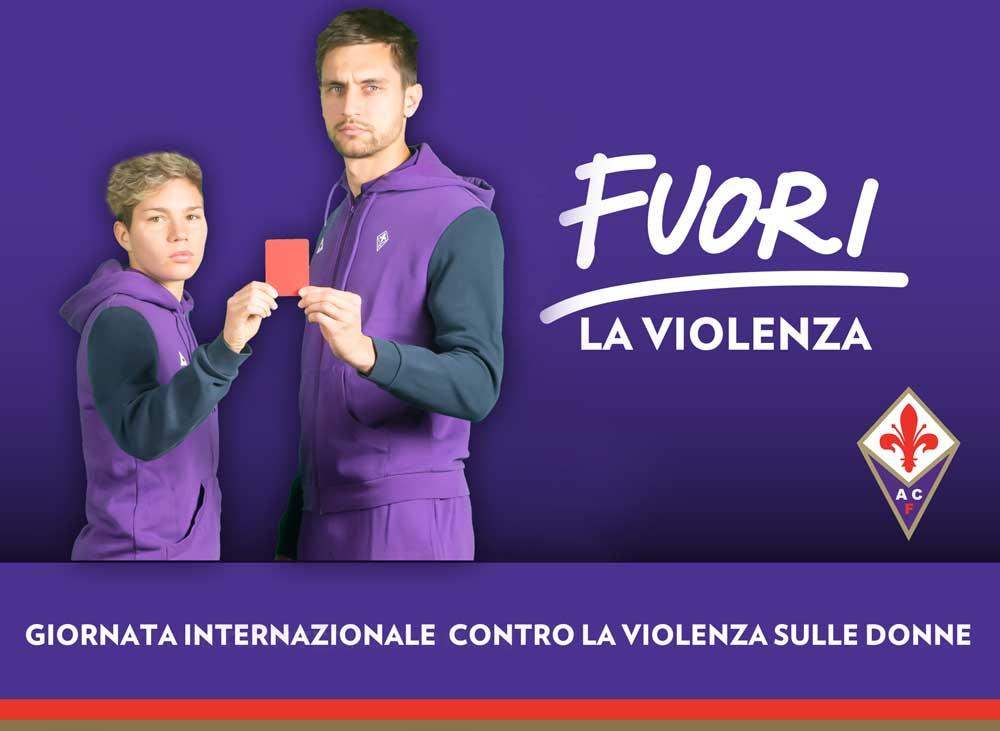 ACF, Tata e Linari per la campagna contro la violenza sulle donne