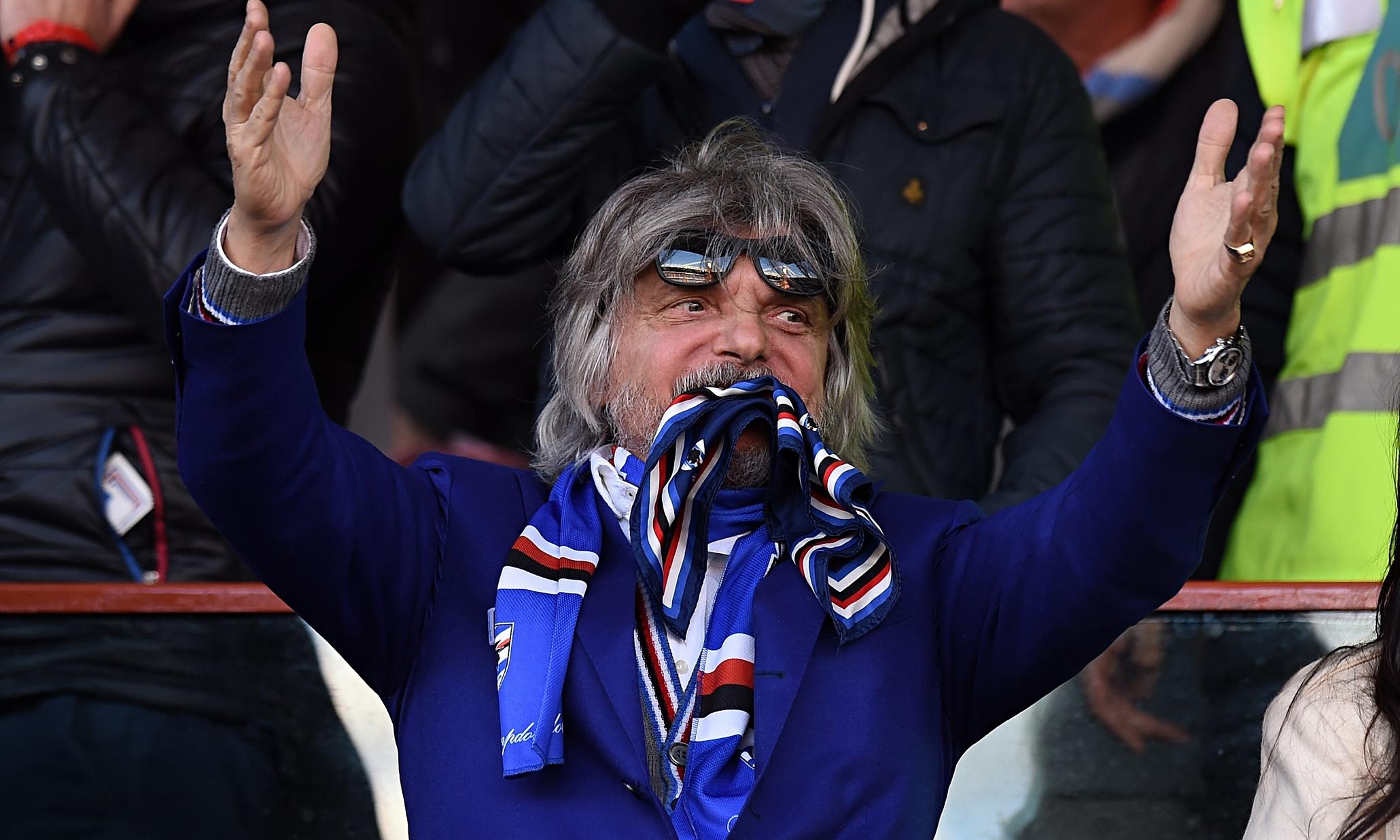 """Massimo Ferrero: """"La Sampdoria non è in vendita, non a quelle cifre. E' solo gente che vuole farsi pubblicità…"""""""