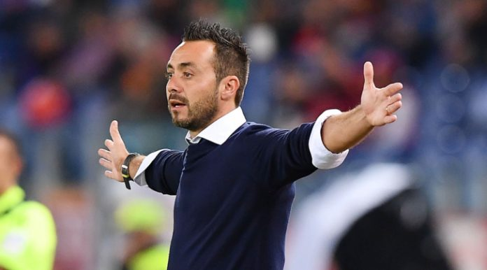 """De Zerbi: """"A Firenze gara non vera, oggi cercheremo il riscatto con tutte le nostre forze."""""""