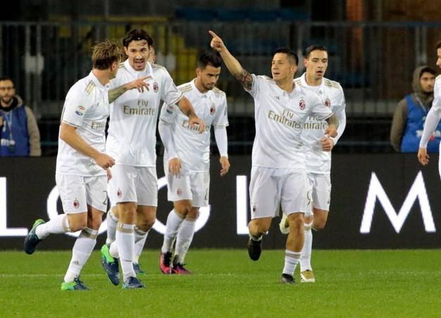 L'Empoli ne prende quattro anche dal Milan, doppietta di Lapadula