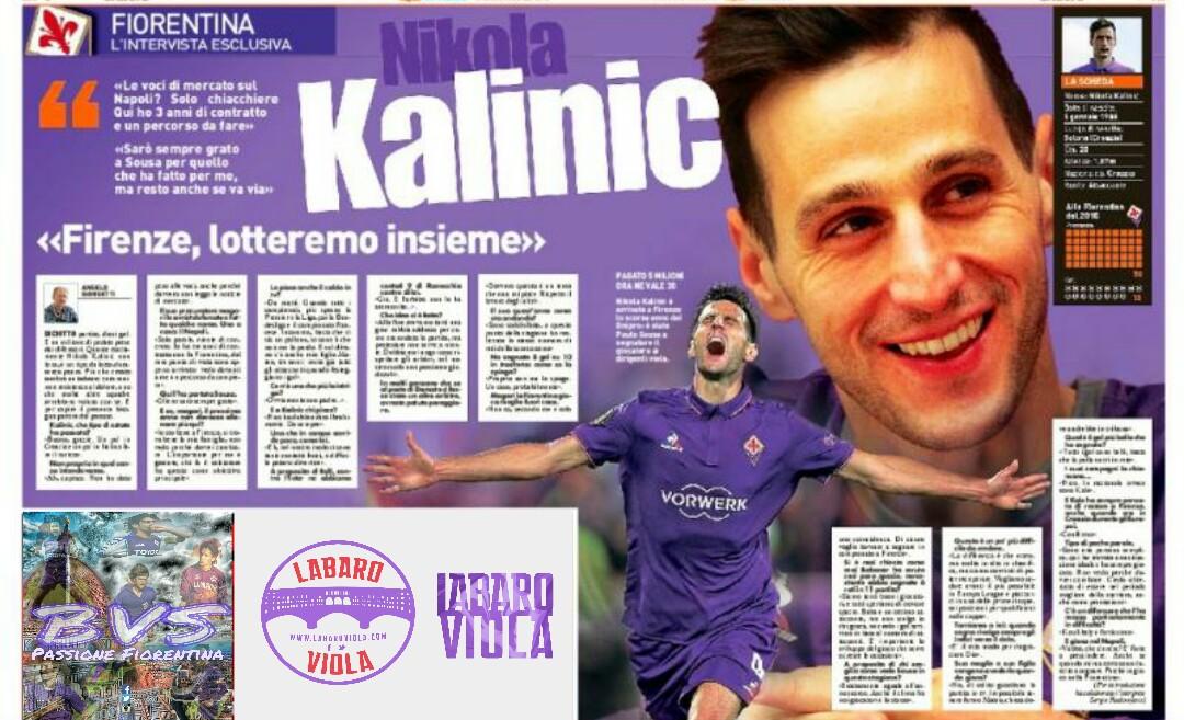 """Kalinic: """"Resterò a lungo a Firenze. Siamo arrabbiati dopo l'Inter. Il clima nello spogliatoio…"""""""