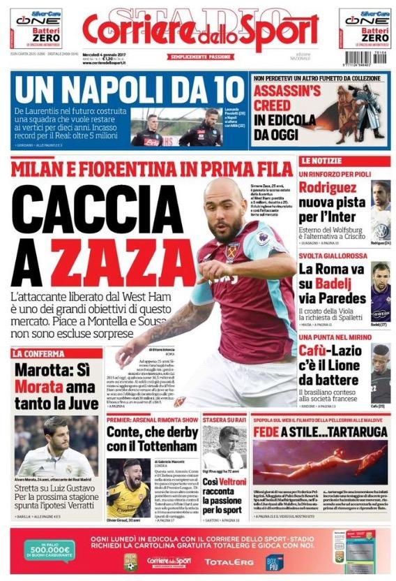 Il Corriere Dello Sport 04 Gennaio 2017