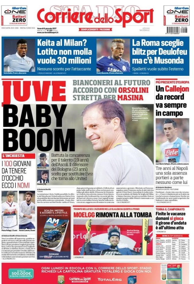 Corriere Dello Sport 06 Gennaio 2017