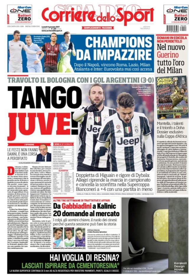 Corriere Dello Sport 09 Gennaio 2017