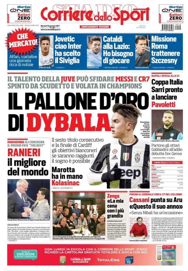 Corriere Dello Sport 10 Gennaio 2017
