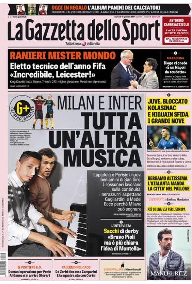 Gazzetta Dello Sport 10 Gennaio 2017
