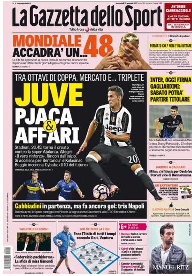 La Gazzetta Dello Sport 11 Gennaio 2017
