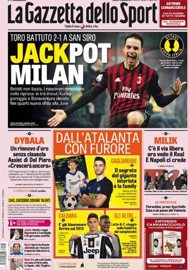 Gazzetta Dello Sport 13 Gennaio 2017