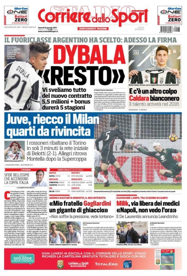 Corriere Dello Sport 13 Gennaio 2017