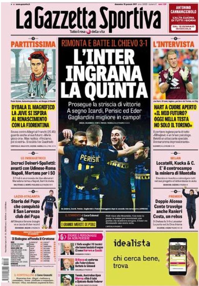 Gazzetta Dello Sport 15 Gennaio 2017
