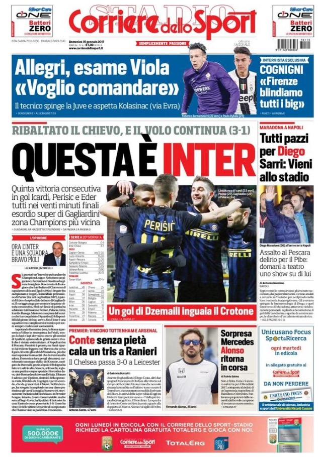 Corriere Dello Sport 15 Gennaio 2017