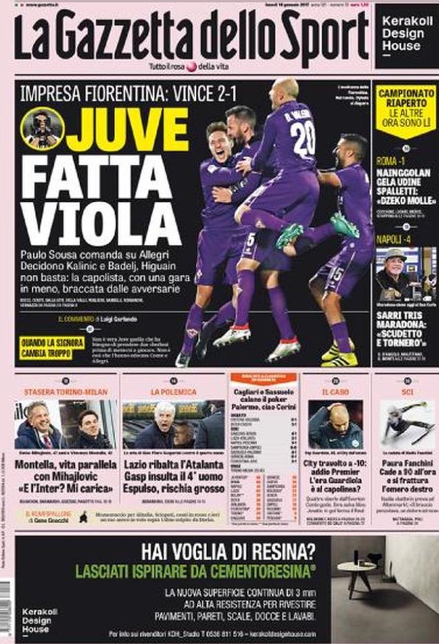 Gazzetta Dello Sport 16 Gennaio 2017