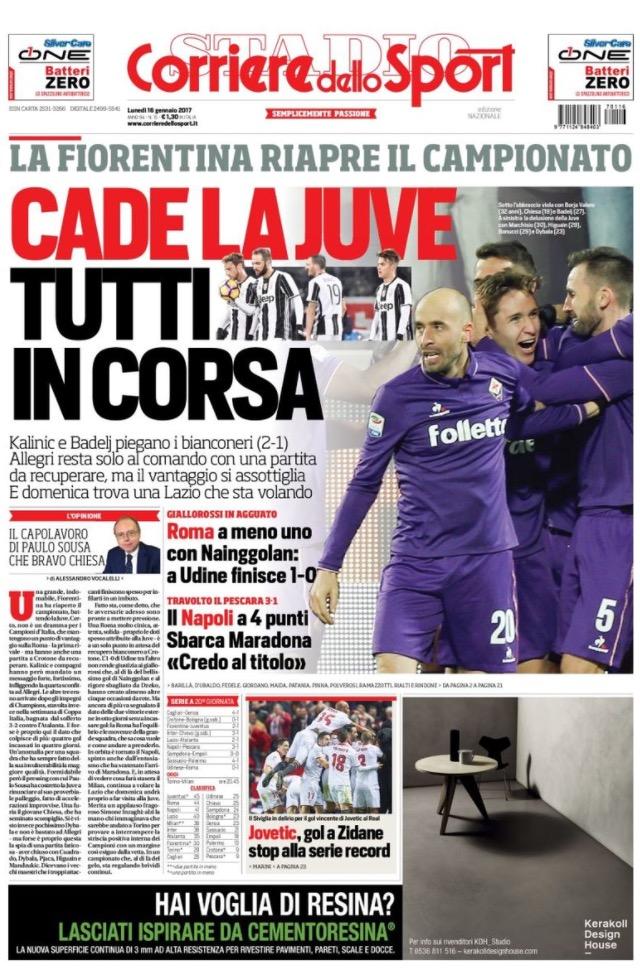 Corriere Dello Sport 16 Gennaio 2017