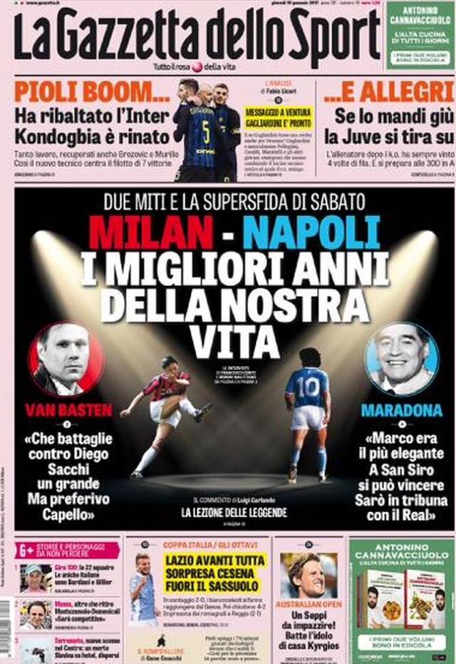 Gazzetta Dello Sport 19 Gennaio 2017