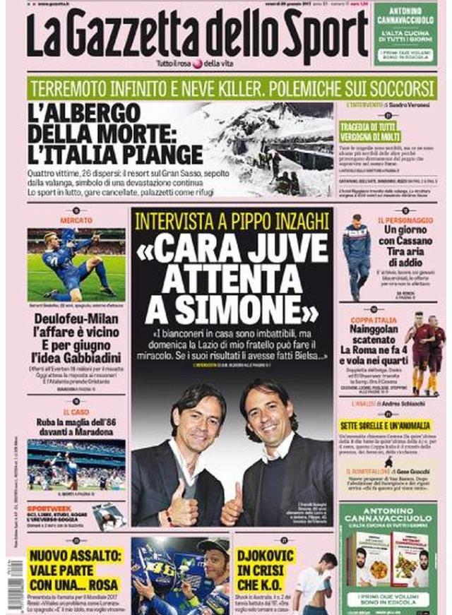 Gazzetta Dello Sport 20 Gennaio 2017