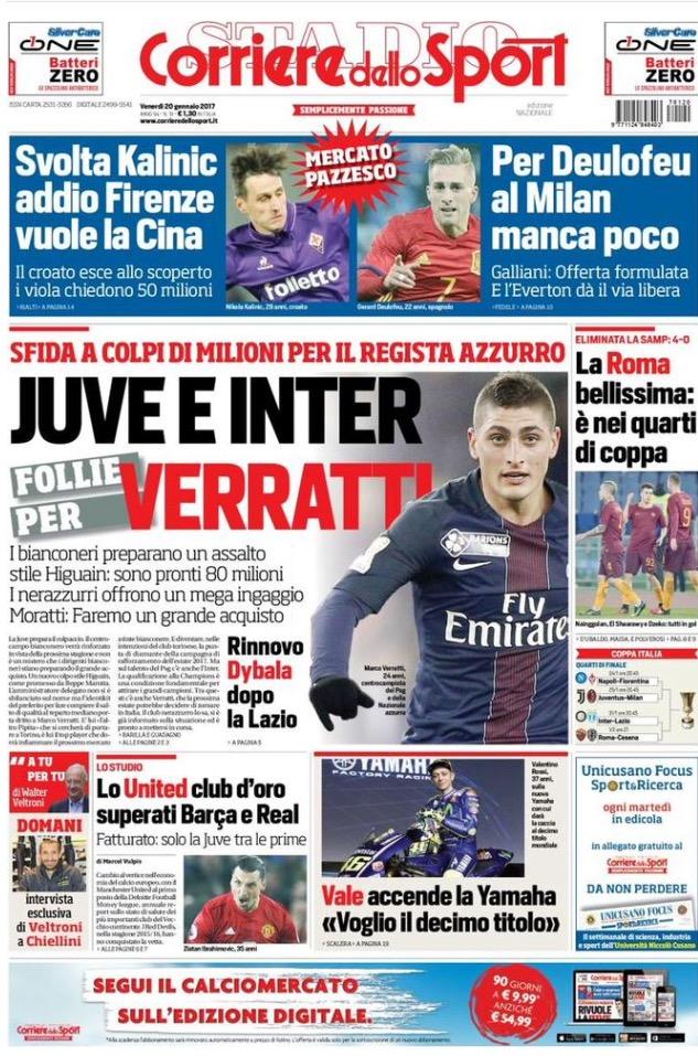 Corriere Dello Sport 20 Gennaio 2017
