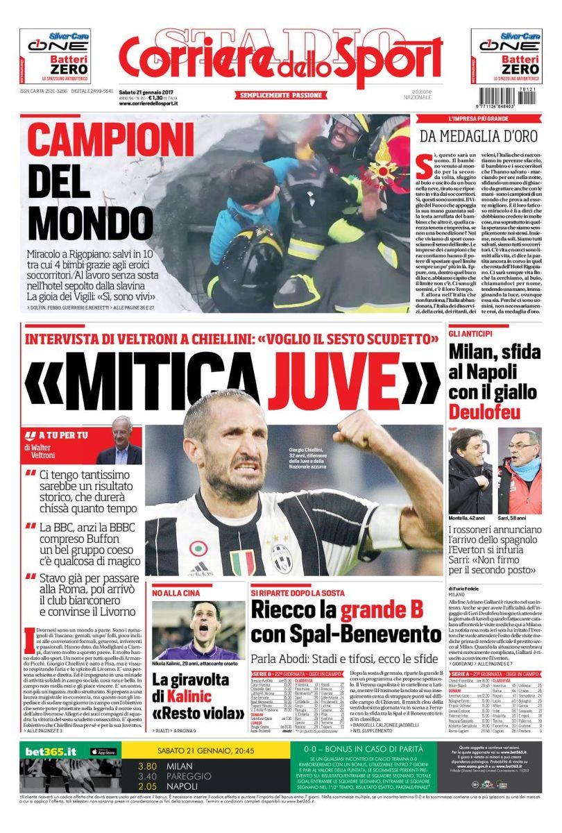 Corriere Dello Sport 21 Gennaio 2017