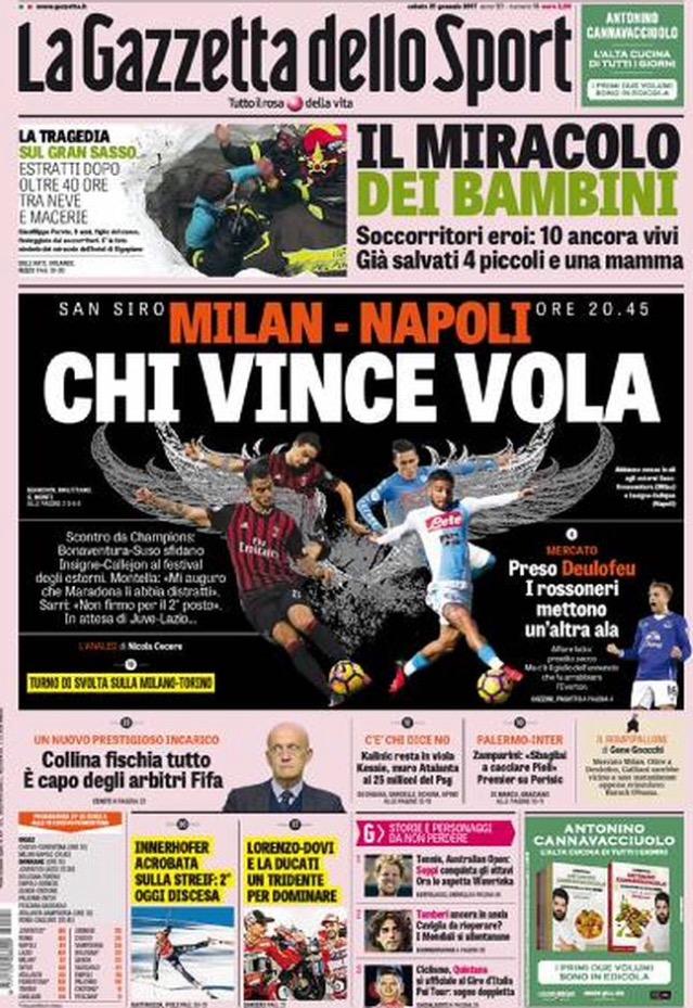 Gazzetta Dello Sport 21 Gennaio 2017