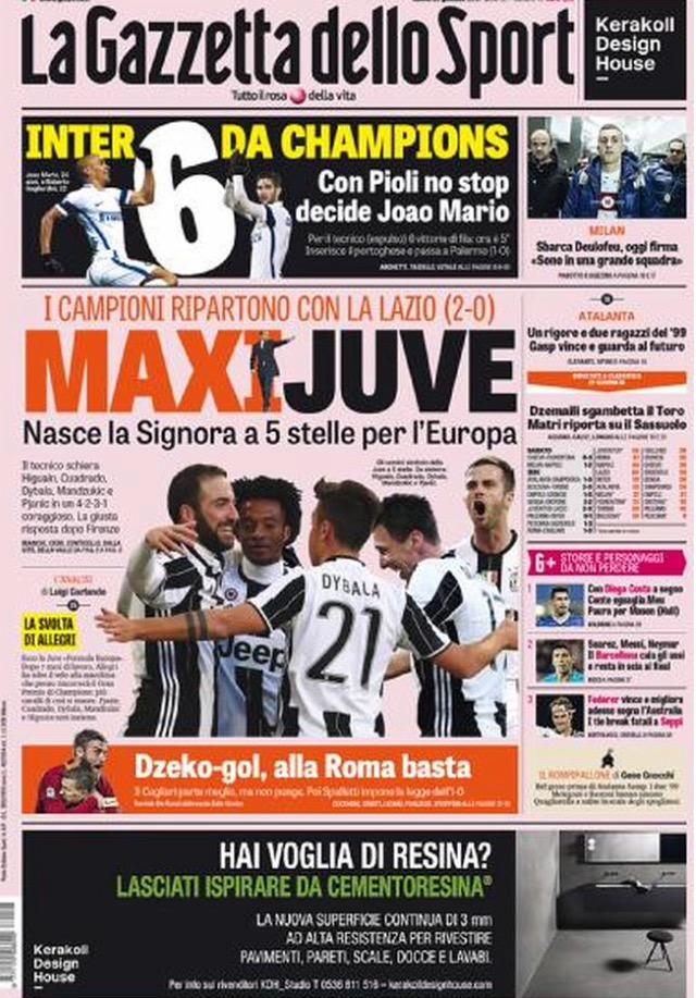 Gazzetta Dello Sport 23 Gennaio 2017
