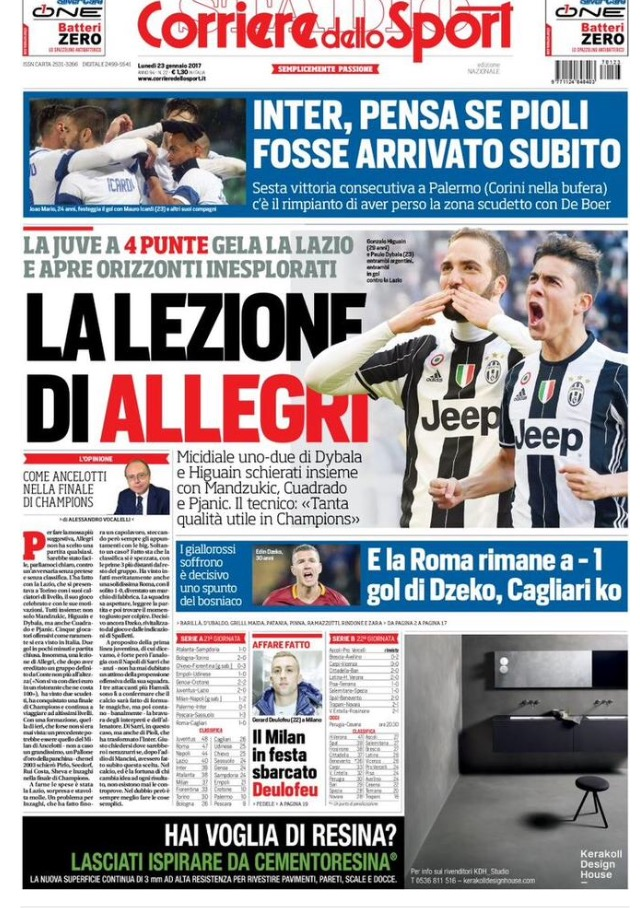 Corriere Dello Sport 23 Gennaio 2017