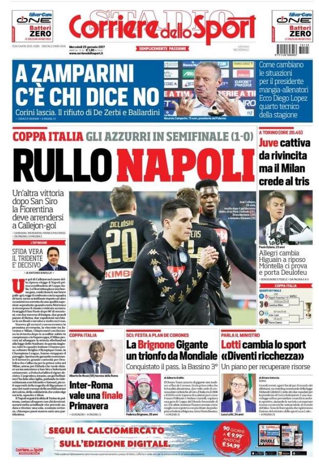 Corriere Dello Sport 25 Gennaio 2017