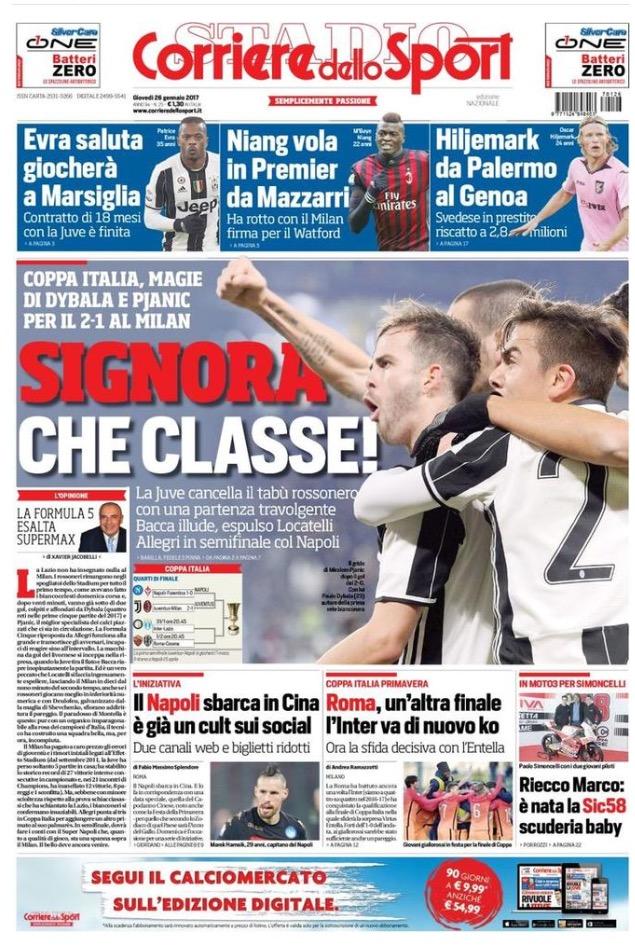 Corriere Dello Sport 26 Gennaio 2017