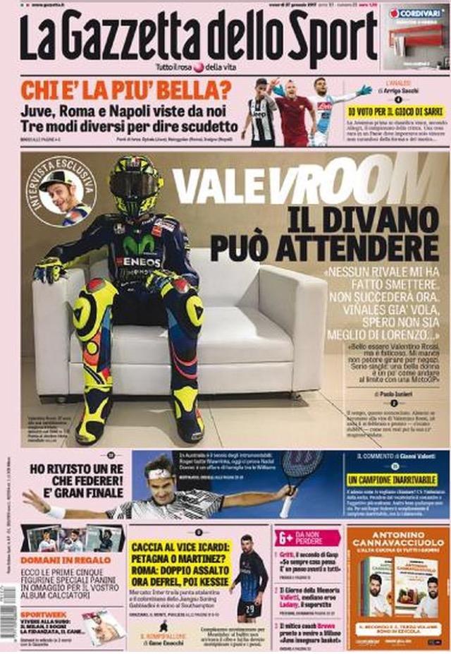 Gazzetta Dello Sport 27 Gennaio 2017