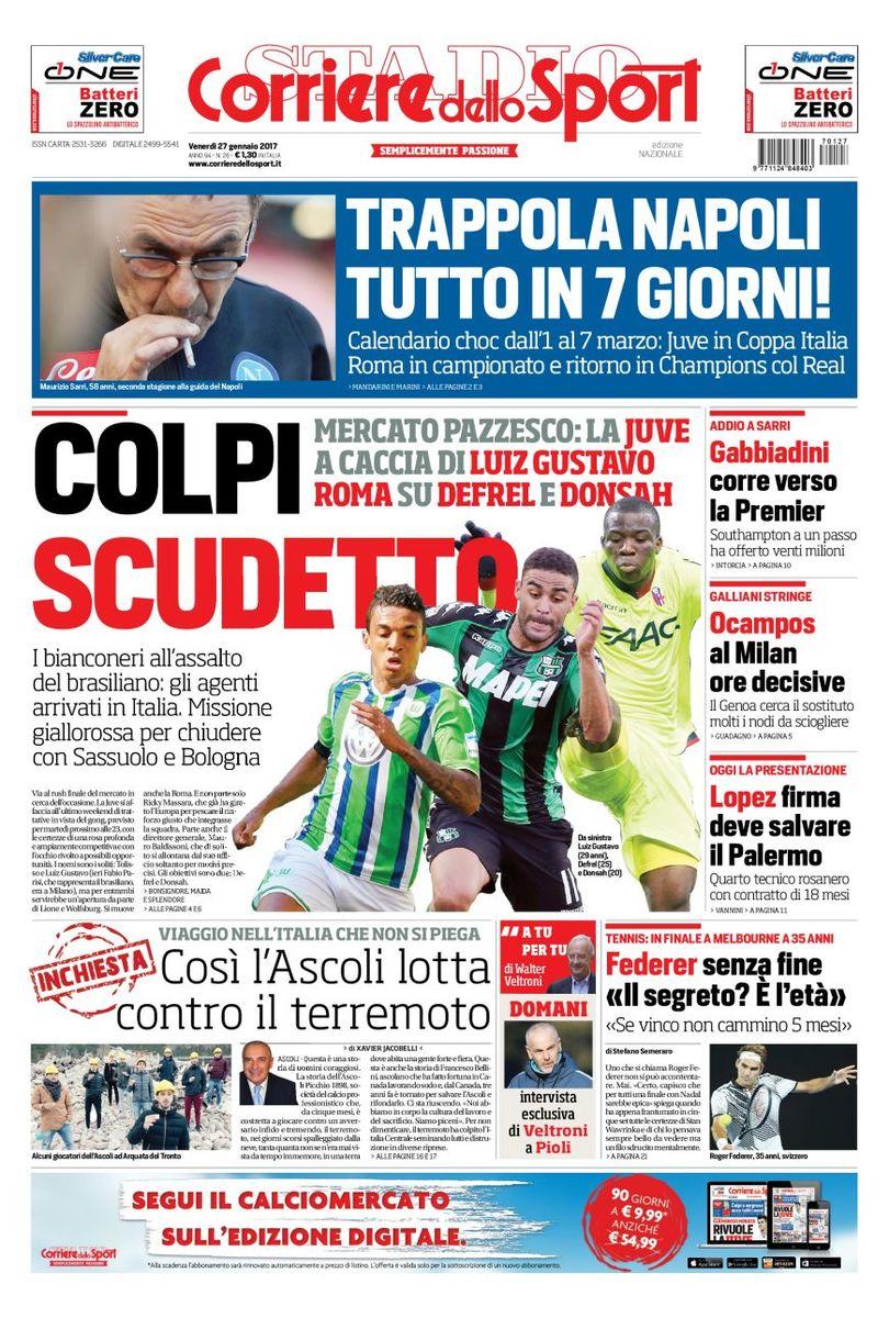 Corriere Dello Sport 27 Gennaio 2017