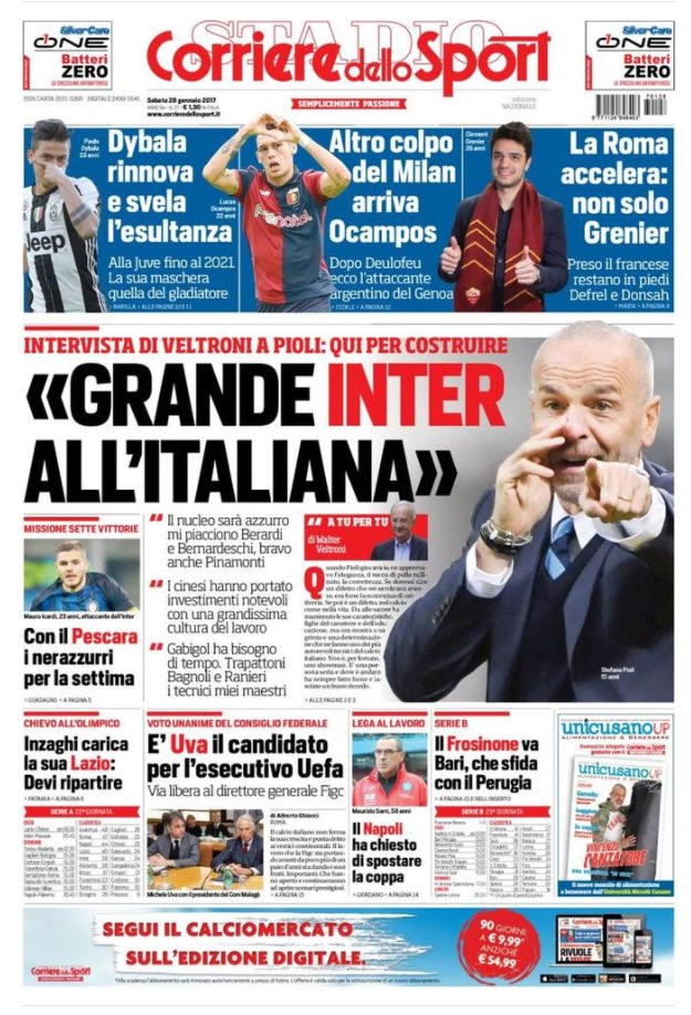 Corriere Dello Sport 28 Gennaio 2017