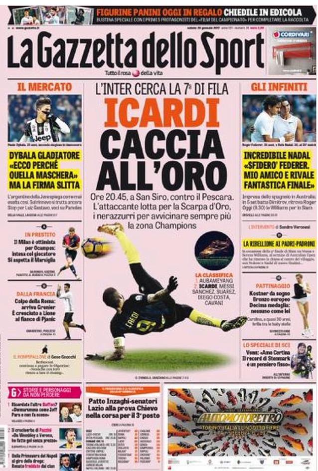 Gazzetta Dello Sport 28 Gennaio 2017