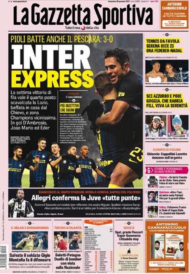 Gazzetta Dello Sport 29 Gennaio 2017