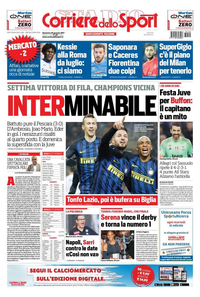 Corriere Dello Sport 29 Gennaio 2017