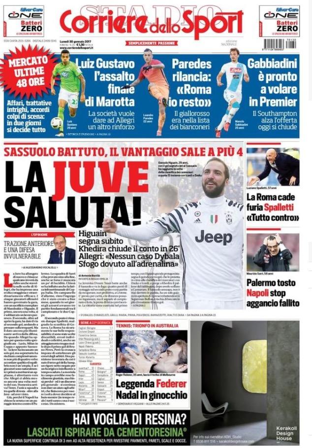 Corriere Dello Sport 30 Gennaio 2017