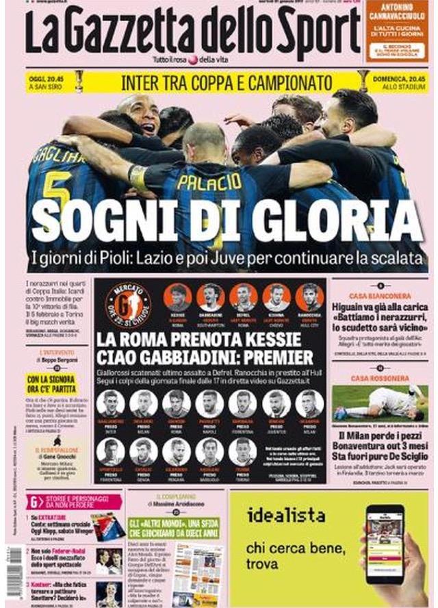 Gazzetta Dello Sport 31 Gennaio 2017