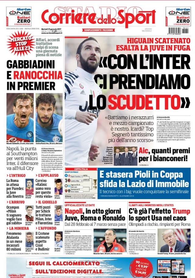 Corriere Dello Sport 31 Gennaio 2017