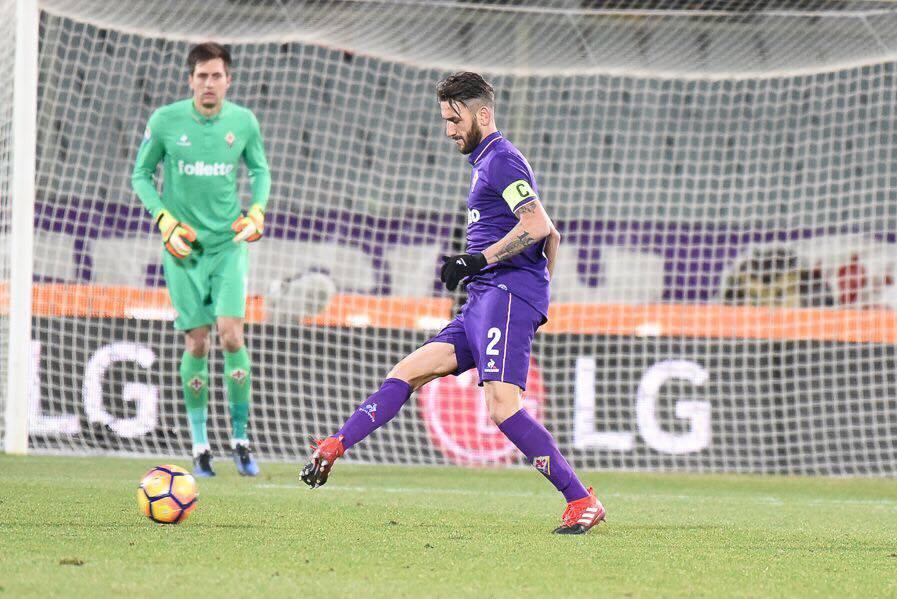 Fiorentina-Juve, 15.01.2017. Gonzalo Rodriguez, foto Fiorenzo Sernacchioli, copyright Labaroviola.com.
