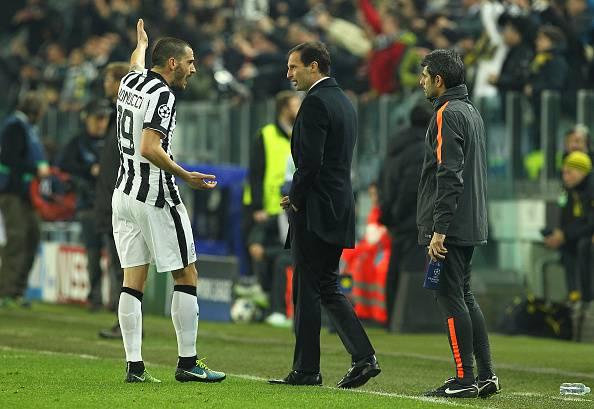 Caos Juve: Bonucci verso la tribuna con il Porto come punizione dopo la lite con Allegri