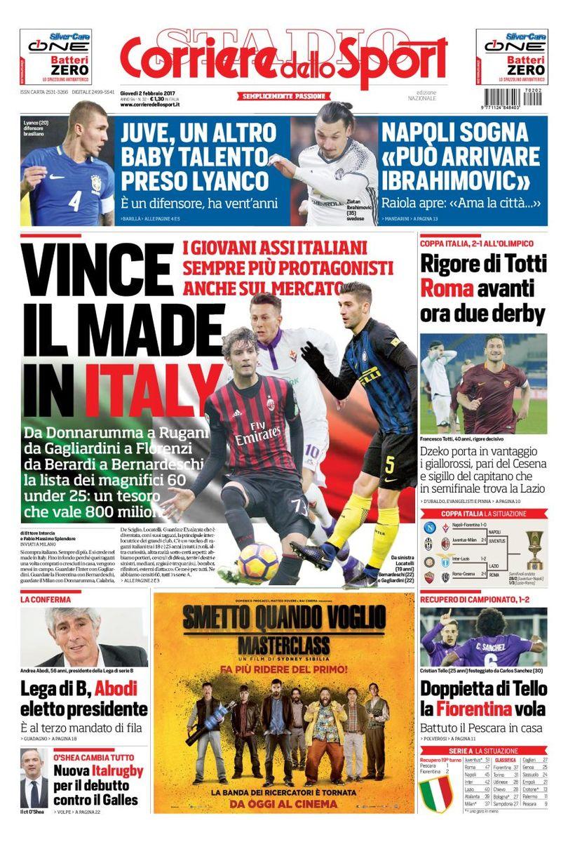 Corriere Dello Sport 2 Febbraio 2017