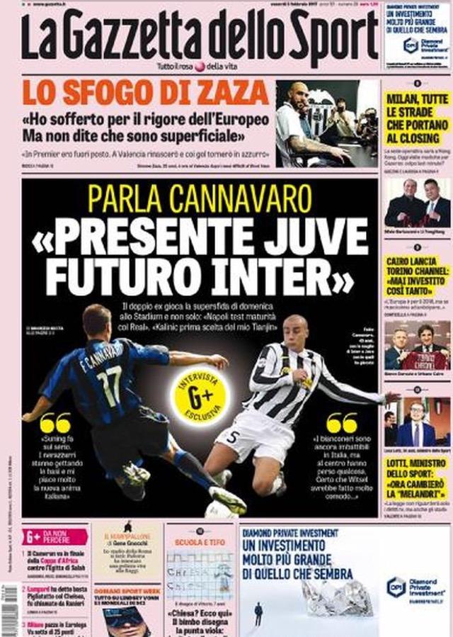 Gazzetta Dello Sport 3 Febbraio 2017