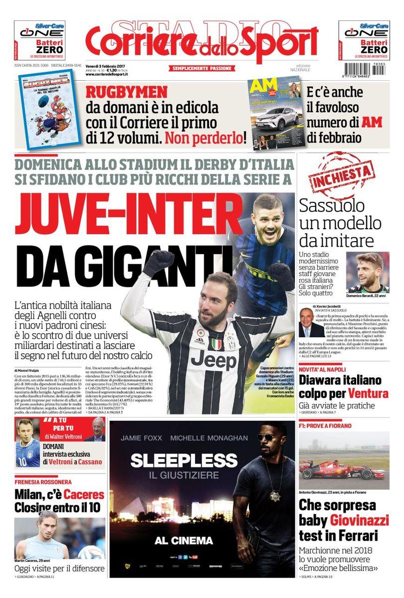 Corriere Dello Sport 3 Febbraio 2017
