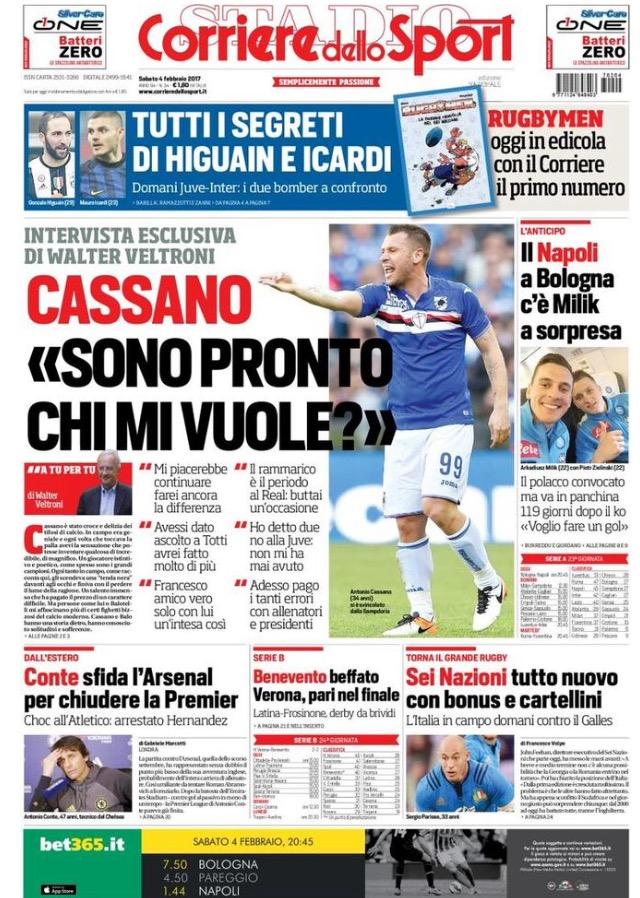 Corriere Dello Sport 4 Febbraio 2017