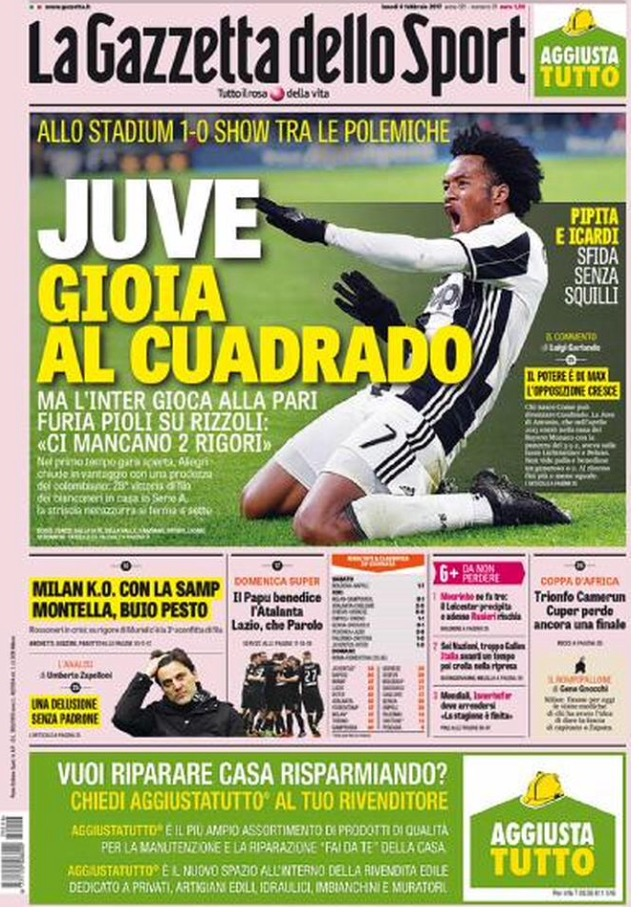 Gazzetta 6 Febbraio 2017