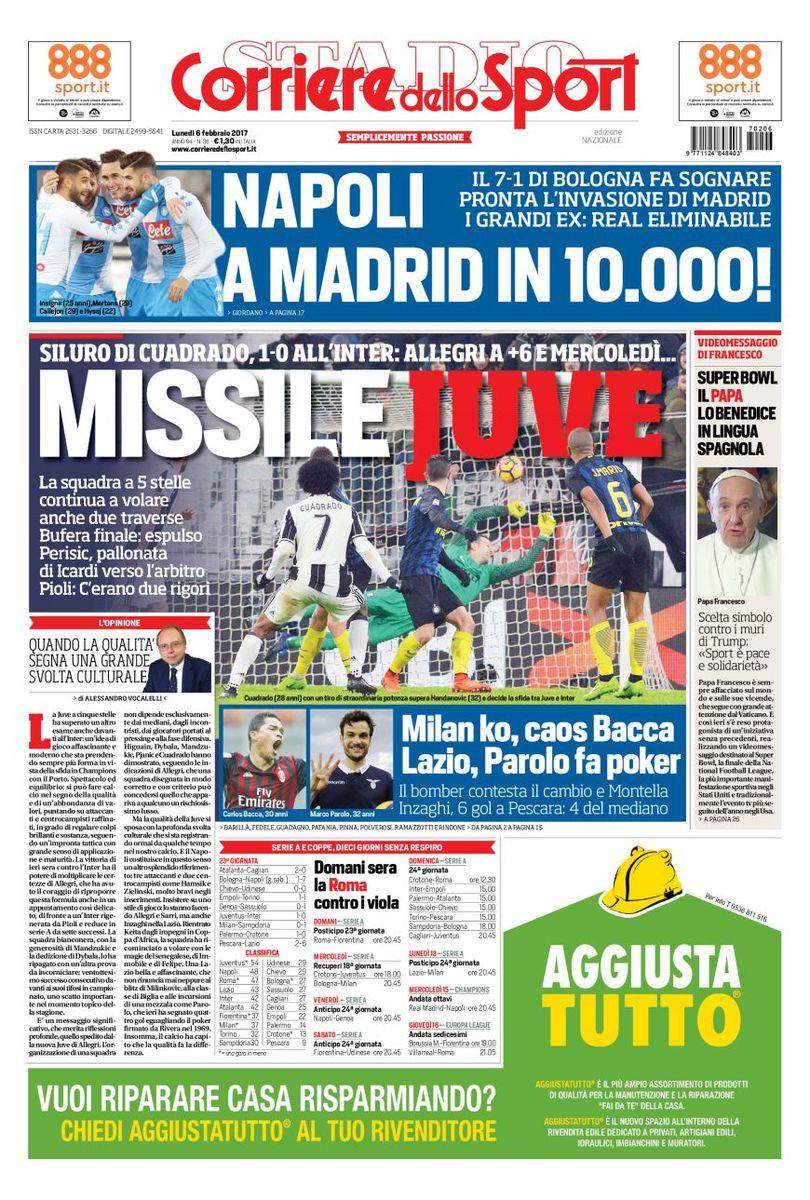 Corriere Dello Sport 6 Febbraio 2017