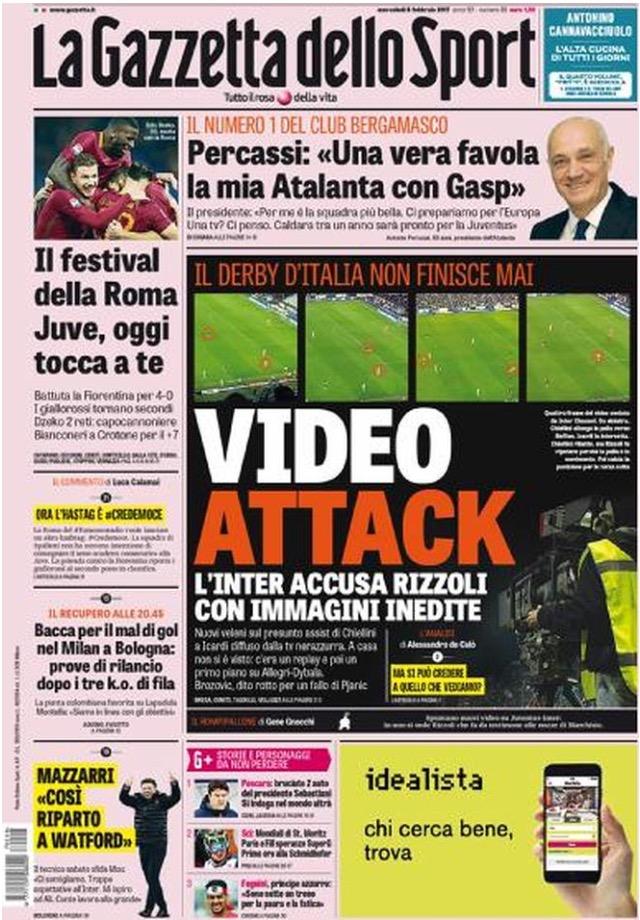 Gazzetta Dello Sport 8 Febbraio 2017