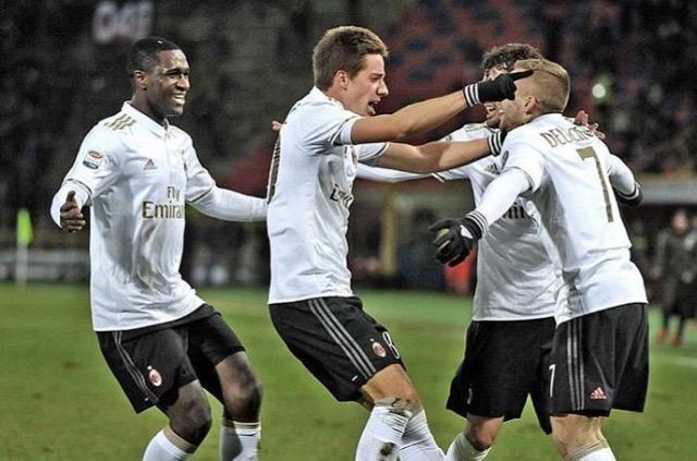 Il Milan in 9 espugna Bologna per 0-1. Segna Pasalic. Rossoneri a +3 sulla Fiorentina…