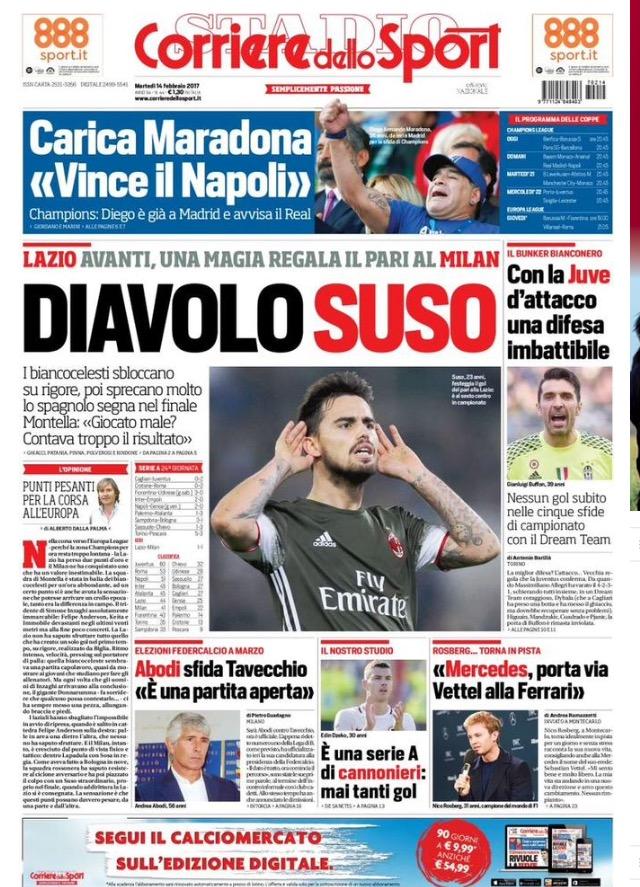 Corriere Dello Sport 14 Febbraio 2017
