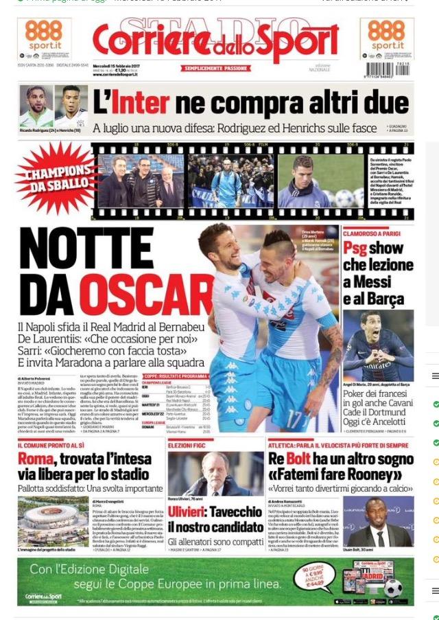 Corriere Dello Sport 15 Febbraio 2017