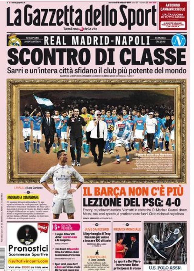 Gazzetta Dello Sport 15 Febbraio 2017